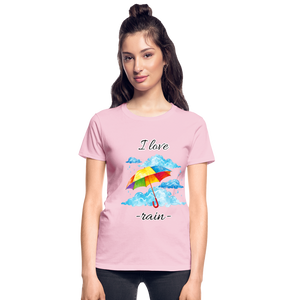I Love Rain Ultra Cotton Ladies T-Shirt - light pink