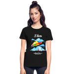 I Love Rain Ultra Cotton Ladies T-Shirt - black