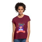 Thoughts Become Things Relaxed Fit T-Shirt - burgundy