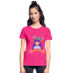 Thoughts Become Things Ultra Cotton Ladies T-Shirt - fuchsia