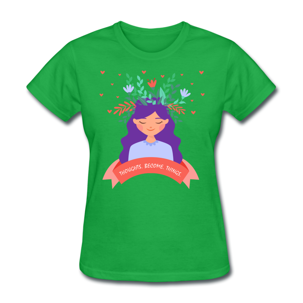 Thoughts Become Things Classic T-Shirt - bright green