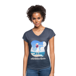Ask Believe Receive Tri-Blend V-Neck T-Shirt - navy heather