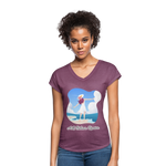 Ask Believe Receive Tri-Blend V-Neck T-Shirt - heather plum