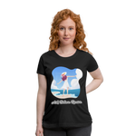 Ask Believe Receive Maternity T-Shirt - black