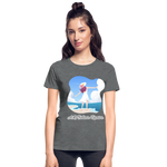 Ask Believe Receive Ultra Cotton Ladies T-Shirt - deep heather