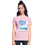 Ask Believe Receive Ultra Cotton Ladies T-Shirt - light pink