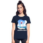 Ask Believe Receive Ultra Cotton Ladies T-Shirt - navy