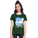 Ask Believe Receive Ultra Cotton Ladies T-Shirt - forest green