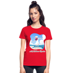 Ask Believe Receive Ultra Cotton Ladies T-Shirt - red
