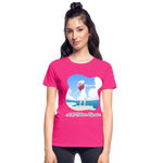 Ask Believe Receive Ultra Cotton Ladies T-Shirt - fuchsia