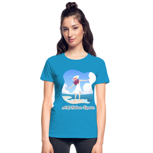 Ask Believe Receive Ultra Cotton Ladies T-Shirt - turquoise
