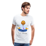 Meditation Lion Premium T-Shirt - white