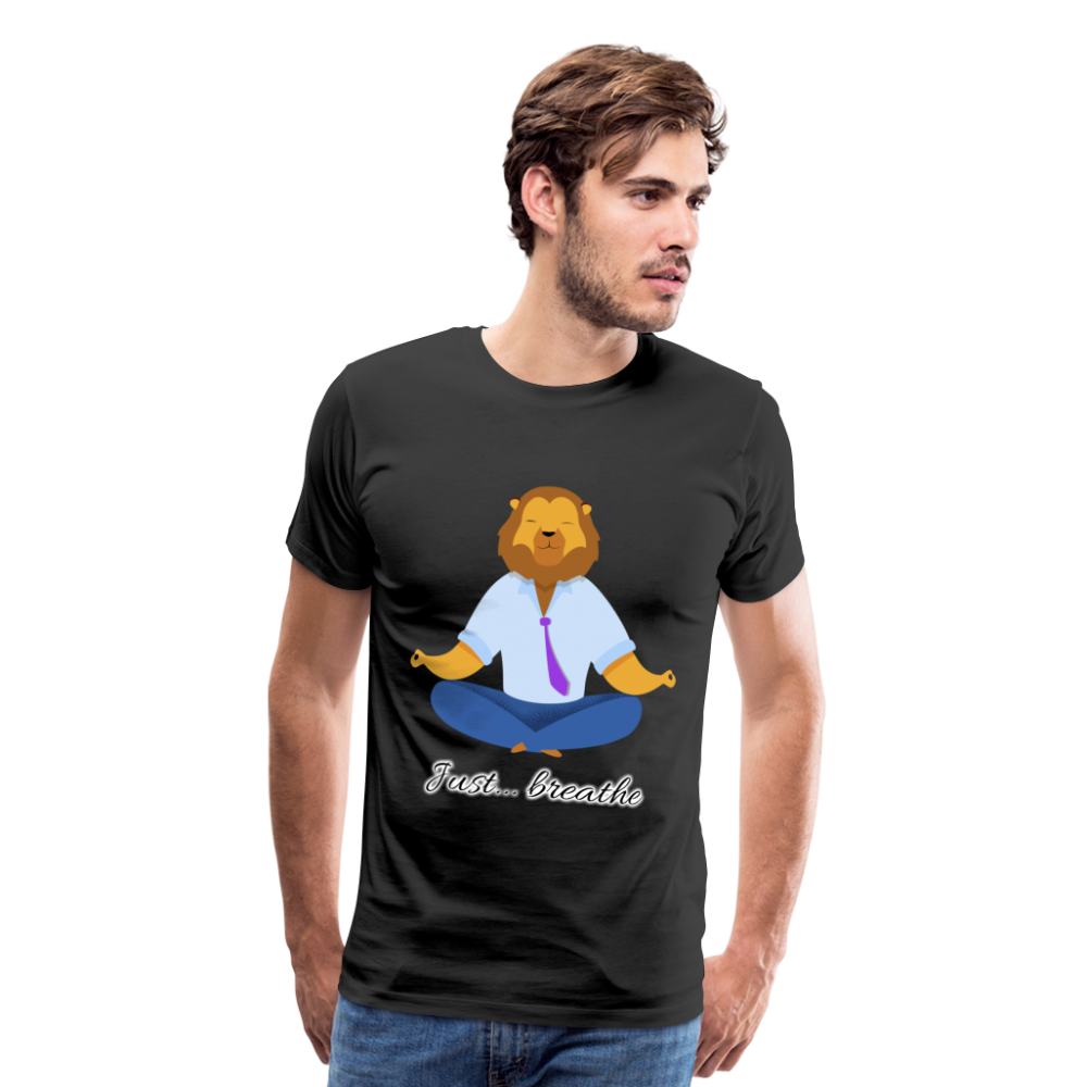 Meditation Lion Premium T-Shirt - black