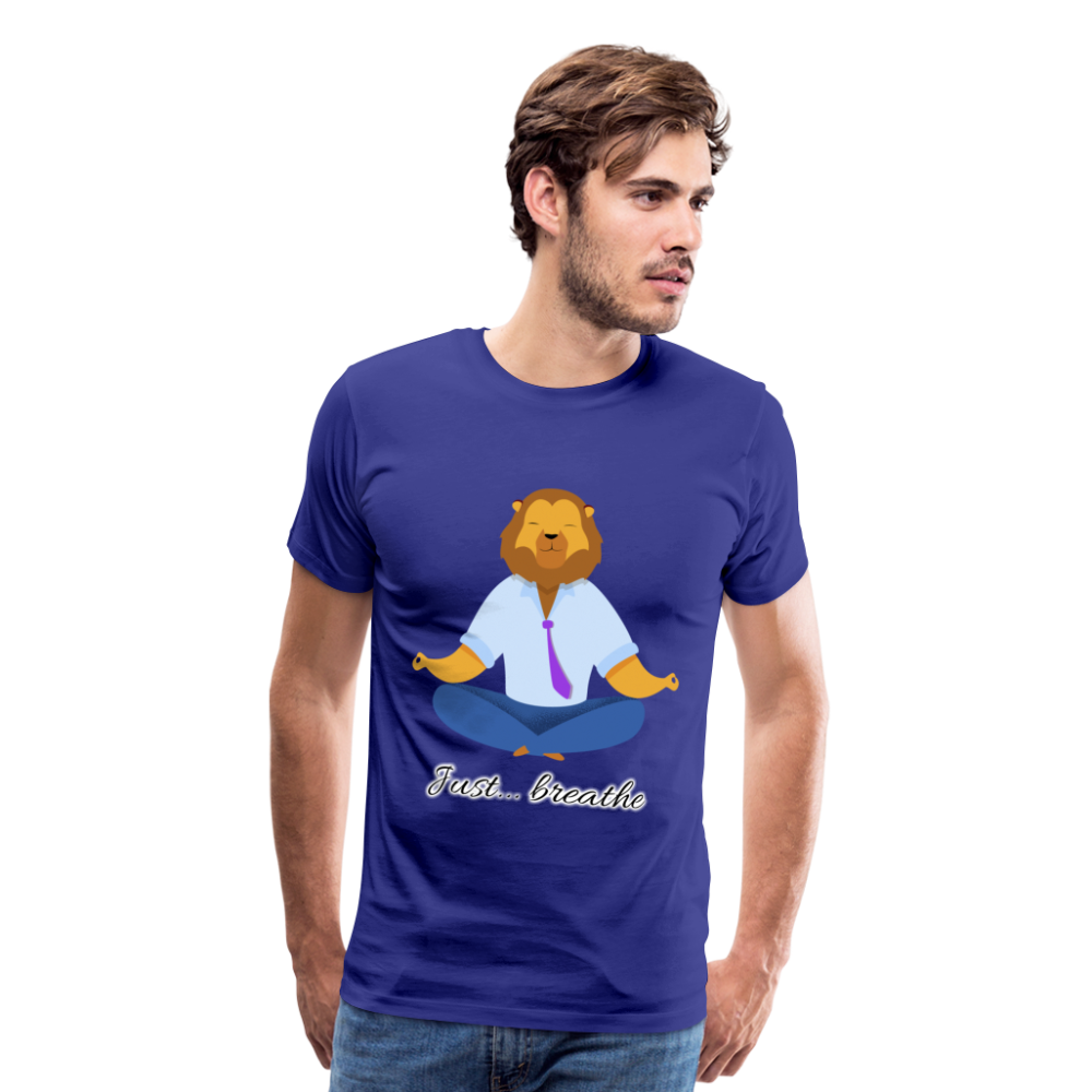 Meditation Lion Premium T-Shirt - royal blue