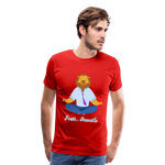 Meditation Lion Premium T-Shirt - red