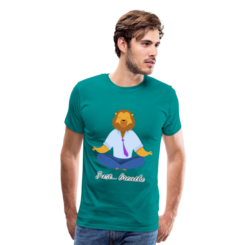 Meditation Lion Premium T-Shirt - teal