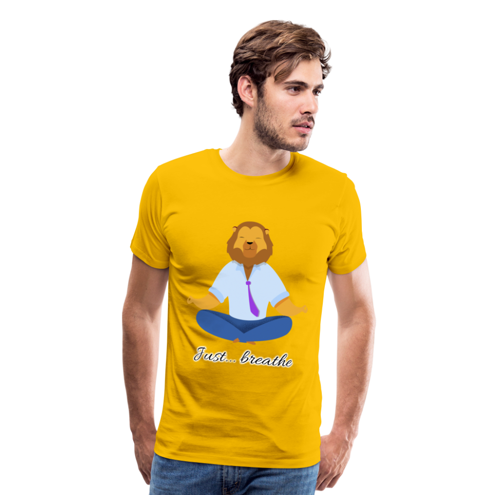 Meditation Lion Premium T-Shirt - sun yellow