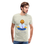 Meditation Lion Premium T-Shirt - heather oatmeal