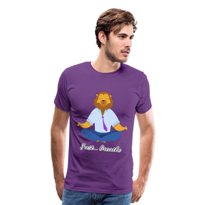 Meditation Lion Premium T-Shirt - purple