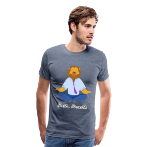 Meditation Lion Premium T-Shirt - heather blue