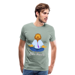 Meditation Lion Premium T-Shirt - steel green