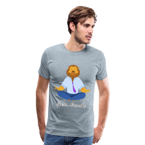 Meditation Lion Premium T-Shirt - heather ice blue