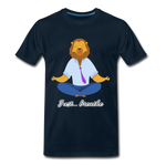 Meditation Lion Premium T-Shirt - deep navy