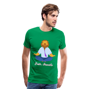 Meditation Lion Premium T-Shirt - kelly green