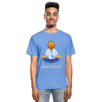 Meditation Lion Tagless T-Shirt - carolina blue