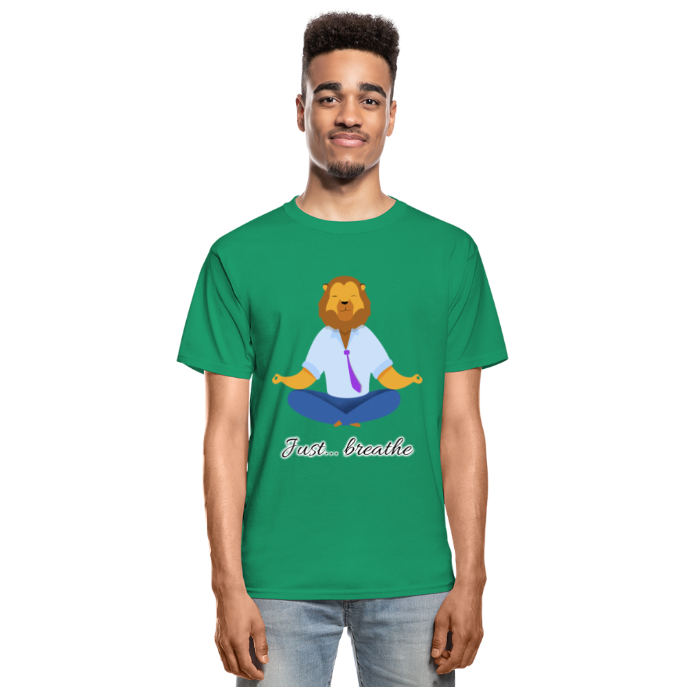 Meditation Lion Tagless T-Shirt - kelly green
