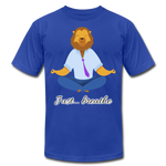 Meditation Lion Jersey T-Shirt - royal blue