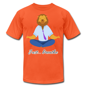 Meditation Lion Jersey T-Shirt - orange