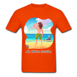 Ask Believe Receive Ultra Cotton T-Shirt - orange