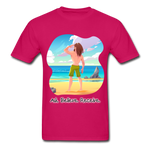 Ask Believe Receive Ultra Cotton T-Shirt - fuchsia