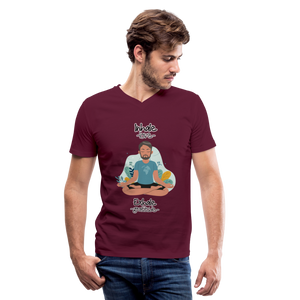 Inhale Love Exhale Gratitude V-Neck T-Shirt - maroon