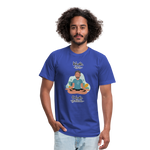 Inhale Love Exhale Gratitude Jersey T-Shirt - royal blue