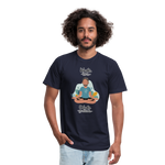 Inhale Love Exhale Gratitude Jersey T-Shirt - navy