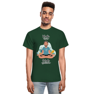 Inhale Love Exhale Gratitude Ultra Cotton Adult T-Shirt - forest green