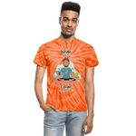 Inhale Love Exhale Gratitude Tie Dye T-Shirt - spider orange