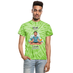 Inhale Love Exhale Gratitude Tie Dye T-Shirt - spider lime green