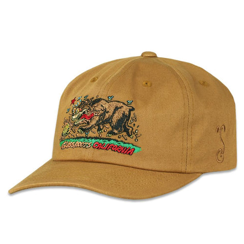 "Grassroots - ""Cali Bear"" by Jimbo Philips Brown Dad Hat"