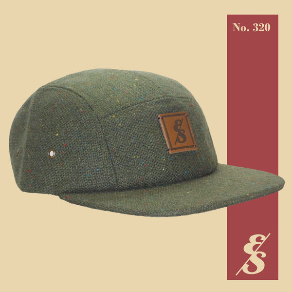 "Elusive Society - ""No. 320"" 5 Panel Hat Forest Green Tweed"