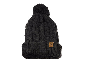 Elusive Society - No. 344 Chunky Knit Beanie with Pom