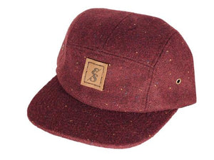 "Elusive Society - ""No. 271"" Burgundy Tweed 5 Panel"