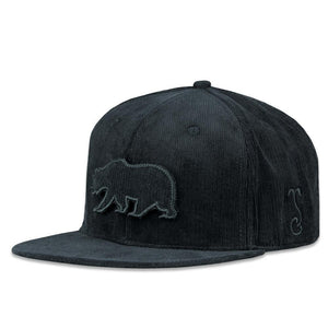 Grassroots - Black Corduroy Removable Bear Patch