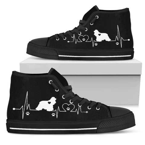 Heartbeat Dog Beagle Women's Black High Top