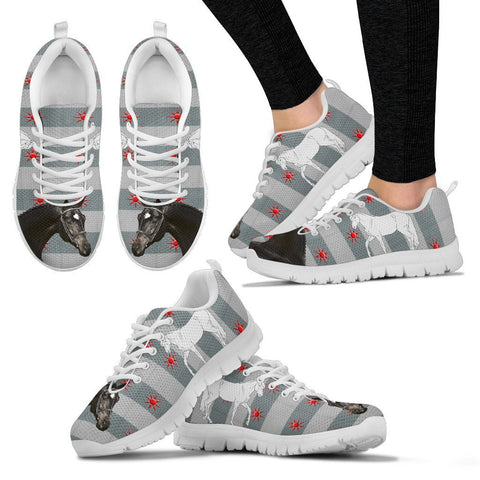 Trakehner Horse Print Christmas Running Shoes For Women-Free Shipping