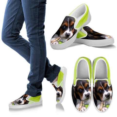 Basset Hound-Dog Slip Ons For Women-Free Shipping
