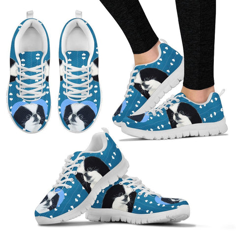 Valentine's Day Special-Cute Japanese Chin Dog Print Running Shoes For Women-Free Shipping
