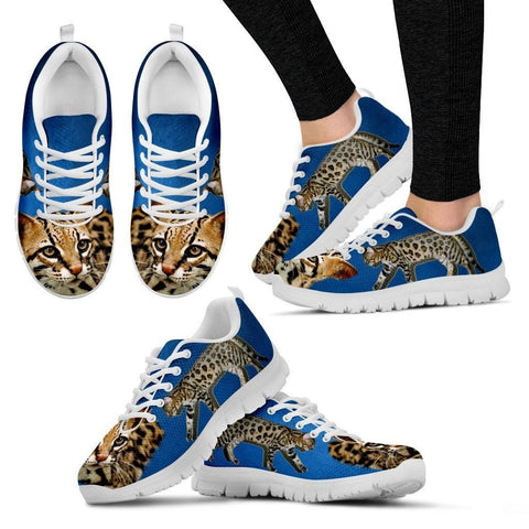 Cheetoh Cat Print (White/Black) Running Shoes For Women-Free Shipping